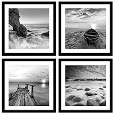 englant 4 panels set framed canvas print for seascape beach and boat sunrise scenery black and on wall art black and white photography with amazon englant 4 panels set framed canvas print for seascape