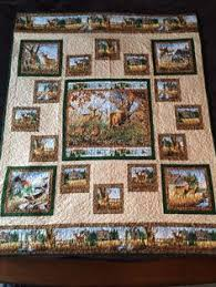 I designed the pieces borders around this beautiful deer wildlife ... & Deer Quilt for my brother in-law. Adamdwight.com