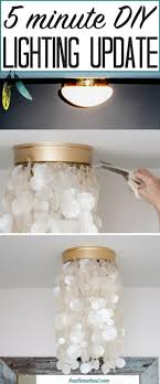 tired of those builder grade lights on your ceiling well this diy