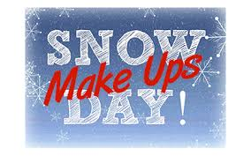 snow make up days announced