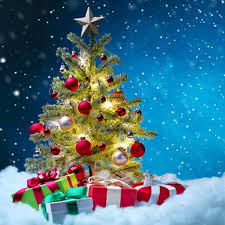 Attractive Christmas Tree Gifts Background Fashion Christmas