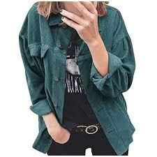River Island Plus Size Chart Burfly Womens Oversized Corduroy Shirt Jacket Long Sleeve