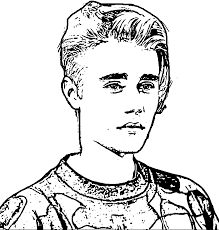 justin bieber coloring pages with wallpapers background in