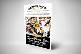 barber flyer clean barber shop flyer templates by designhub thehungryjpeg com