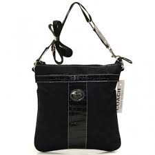 Coach Legacy Swingpack In Signature Medium Black Crossbody Bags BEG