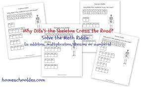 Skeleton Math Riddle (Free Math Worksheet for Addition ...
