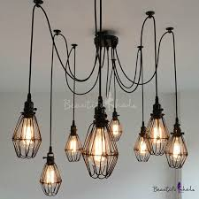 multi bulb light fixture irrational fashion style pendants swag industrial lighting within interior design 23