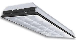 office light fixtures. Parabolic 2X4 Grid Light Fixture - 4 Lamp T8 Office Light Fixtures