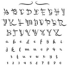 Fonts Calligraphy Calligraphy Font Embroidery Alphabet From Hopscotch Grand Slam Designs