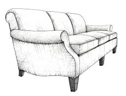 fancy couch drawing. Illustration By Anara Mambetova-Finkelstein For Bauer And Dean Publication \ Fancy Couch Drawing