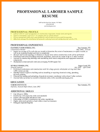 Stunning Resume For Laborer Gallery Simple Resume Office