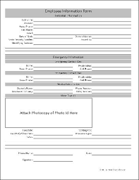 basic personal information form free basic employee information form from formville