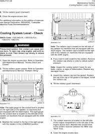maintenance intervals pdf i01959244 cooling system level check smcs code 1350 040 hx 1350