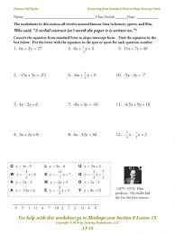 Form Quick Graphs Using Slope Intercept Form Geogebra Worksheet ...