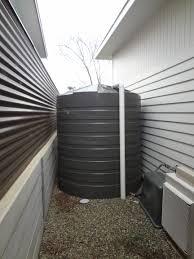 rainwater tank size selection chart