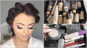 flown to new zealand to do wedding makeup whats in my kit vlog jasmine hand you