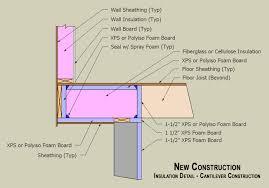 bay window floor floor overhand insulation detail