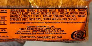 ings label for ezekiel bread original recipe