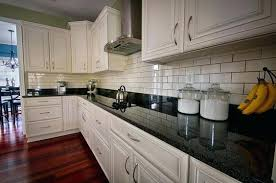 white cabinets black countertops grey floor granite luxurious look for kitchens decor and the dog saved