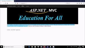 create simple in asp net mvc