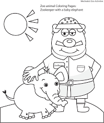 zookeeper coloring page. Exellent Coloring In Zookeeper Coloring Page E