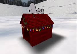 Second Life Marketplace - Snoopy Christmas Dog House from Deep ...