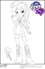 Rainbow Dash Coloring Coloring Rainbow Dash Coloring Page Pages Of