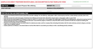 Job Profile Of Document Controller Document Controller Telecom Job Descriptions