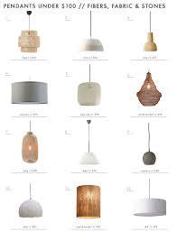 lighting pendents. Emily Henderson Lighting Pendants Under 100 Fiber Shades Ceramic Wood Pendents