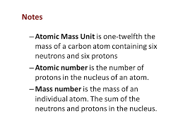 Ch 19 Properties of Atoms and the Periodic Table Section 2 Masses ...