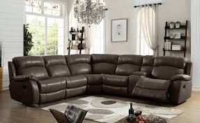 mgs 8018 br 3 pc collette brown top grain leather sectional sofa power motion recliners
