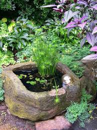 Outdoor: Pottery Mini Pond Ideas - Garden Ponds