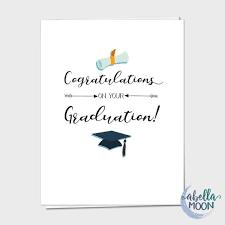 Congratulations On Your Graduation Greeting Card Graduation Etsy