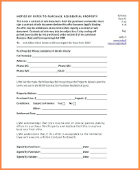 Sample Offer Letter Purchase Property For House Residential Template ...