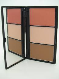 overall sleek makeup face form contouring and blush palette