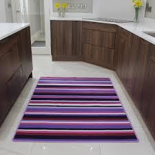 washable modern kitchen rugs purple