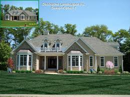 Divine Large Size Front Yard Landscaping Ranch Style House Landscape  Designideas Malandscape Makeover Front Yard Landscaping