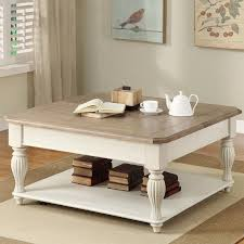 White Living Room Table Sets Riverside Coventry Two Tone Lift Top Square Cocktail Table