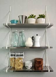 Kitchen Storage Shelves Ideas Kitchen Wall Design Ideas With Metal Shelves
