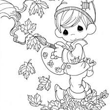 Small Picture Fall Leaves in Autumn Season Coloring Page Fall Leaves in Autumn