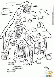 Small Picture Coloring Pages Gingerbread House Coloring Page Printable Coloring