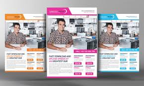 Computer Repair Flyer Template Gorgeous 48 Computer Repair Service Flyers PSD Template Simple Download