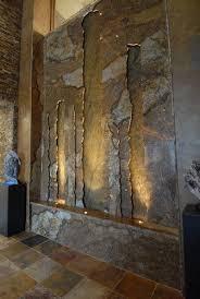 stone wall indoor waterfall indoor