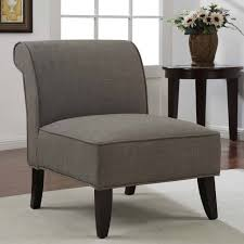 simple gray sa slipper armless design for living room accent chairs under 200