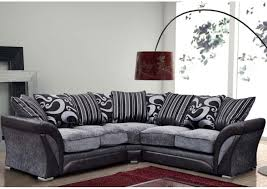 new farrow corner L-shape sofa, faux leather & fabric black grey, foam