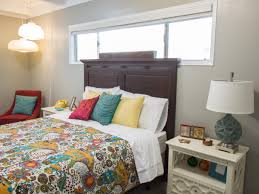 Lovely Neutral Master Bedroom With Colorful Bedding