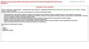 Hcc Coding Auditor Job Experience Letters Examples