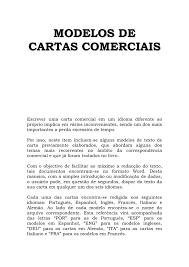 Modelos De Cartas Comerciais Filipe Coelho