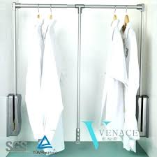 pull down clothes rod clothing rod furniture heavy duty pull down closet rod and wardrobe lift