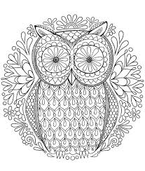 Small Picture Free Owl Coloring Page by Thaneeya Pinteres
